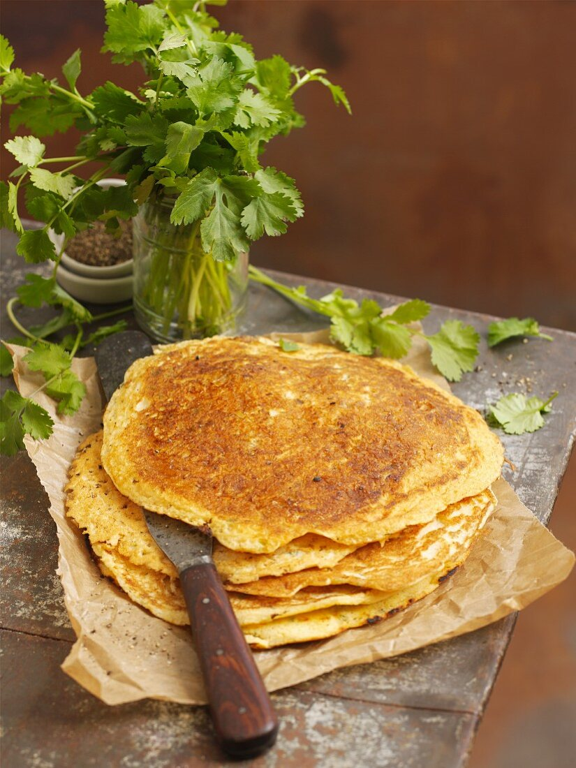 A stack of dosa (pancakes, India)