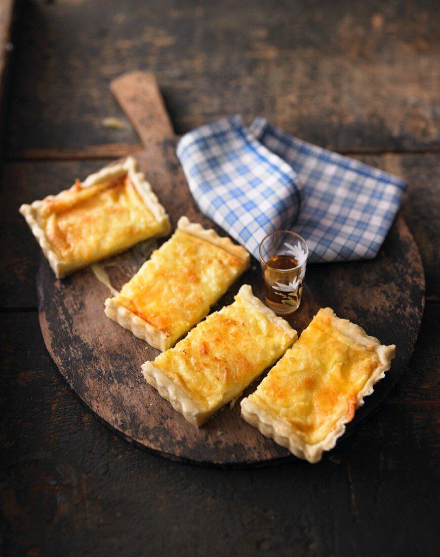 Swiss cheese flan
