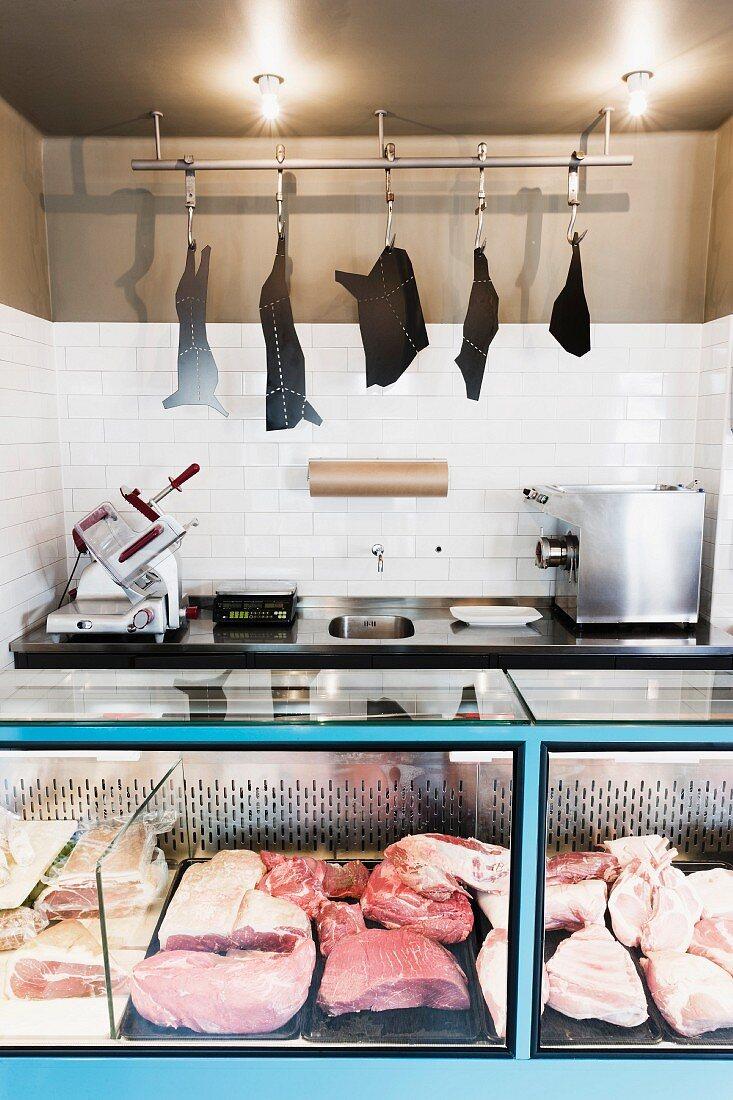 Interior of butcher