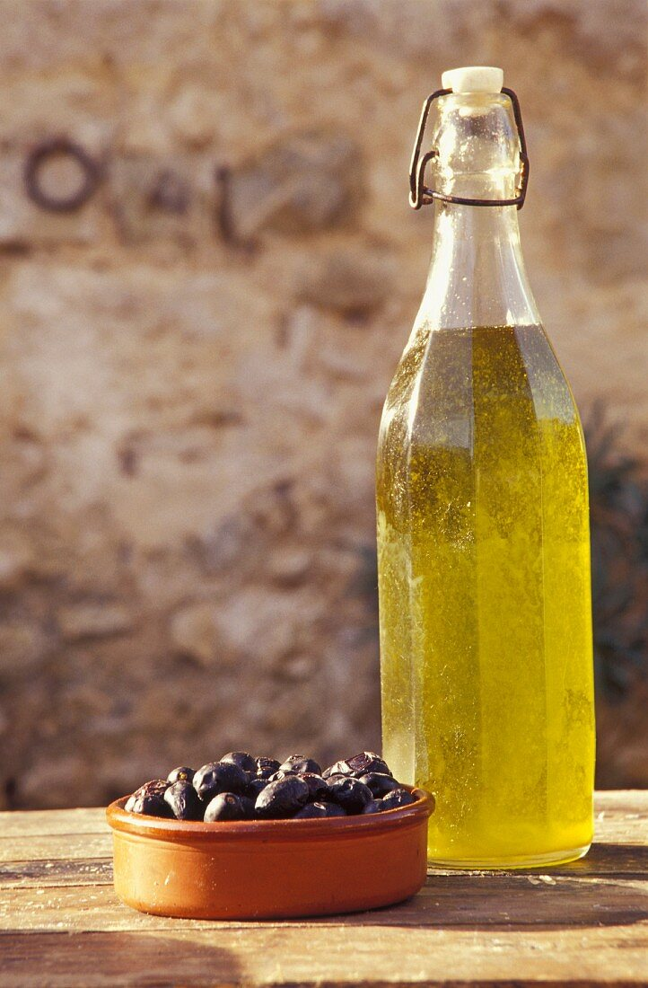 Olives and oil, Campania, Italy