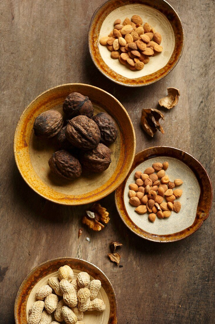 An arrangement of Chinese nuts