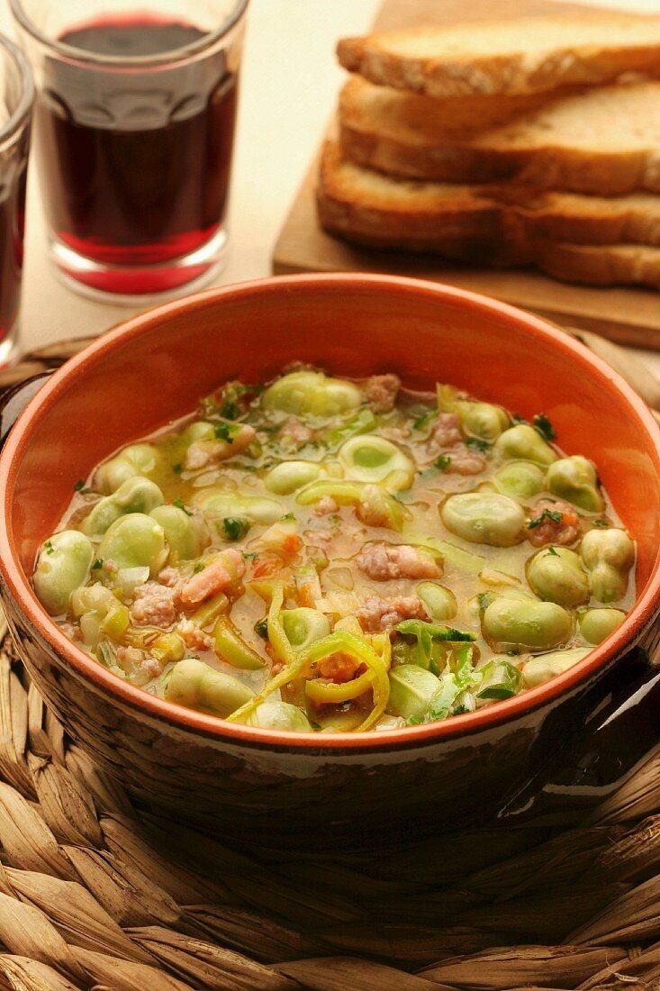 Favata soup, Sardinia, Italy