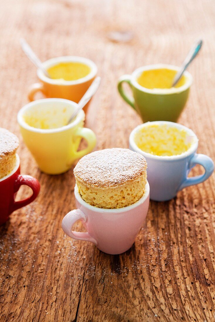 Pumpkin soufflé in a cup