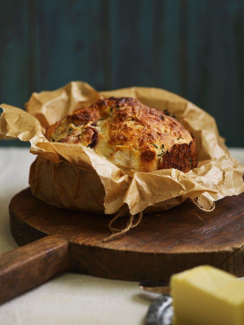 Onion and mozzarella bread