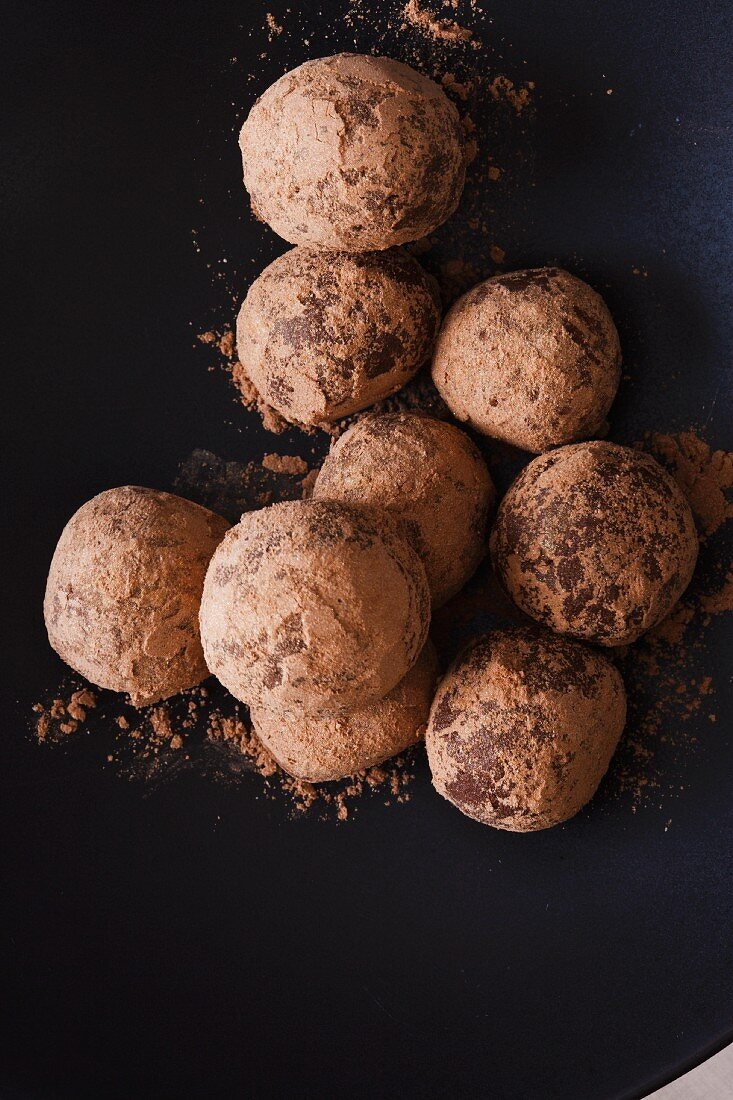 Gold and Chocolate Dusted Bourbon Balls