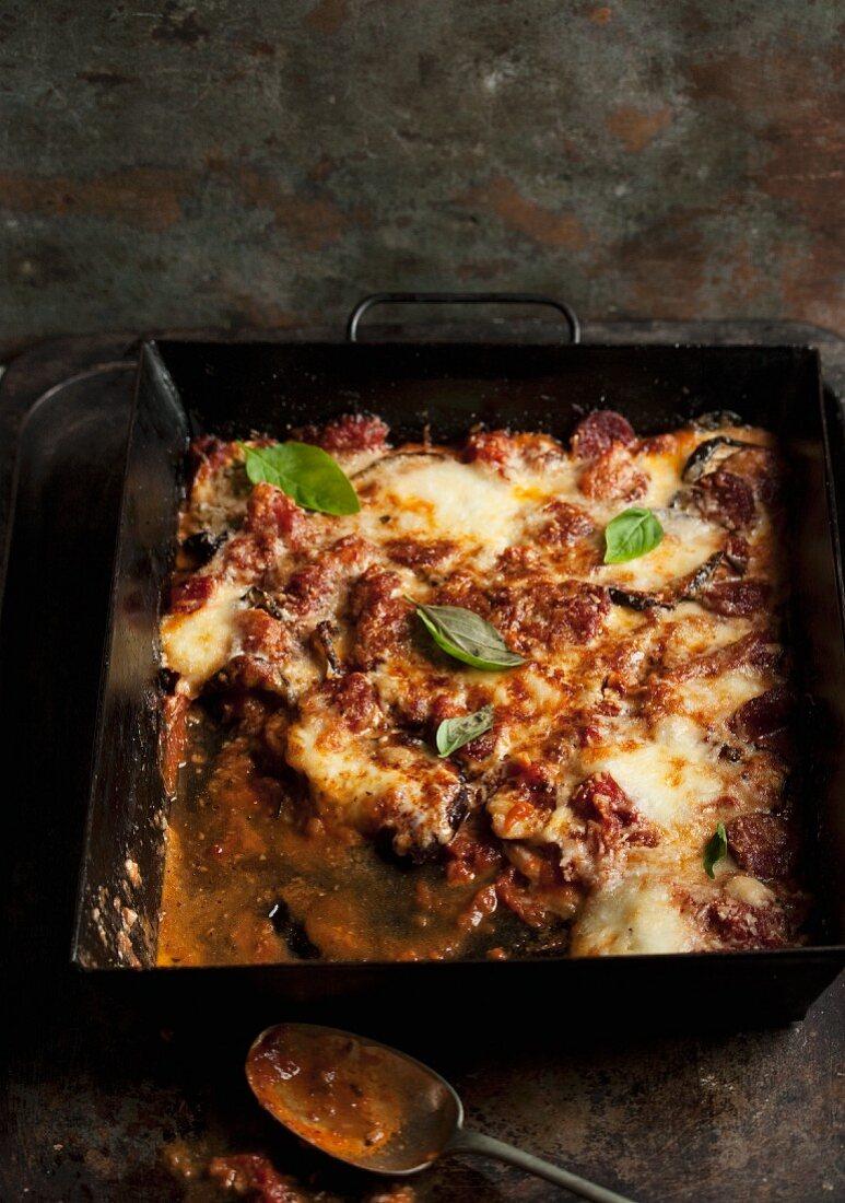 Parmigiana di Melanzane (baked aubergine dish, Italy)