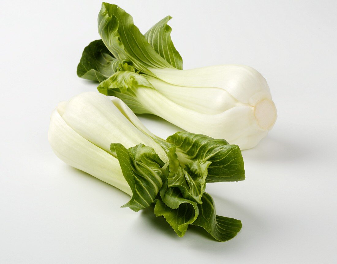 Two heads of pak choi
