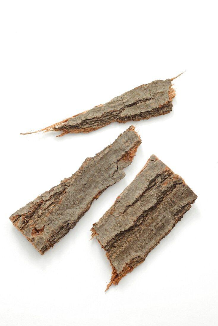 Three pieces of oak bark