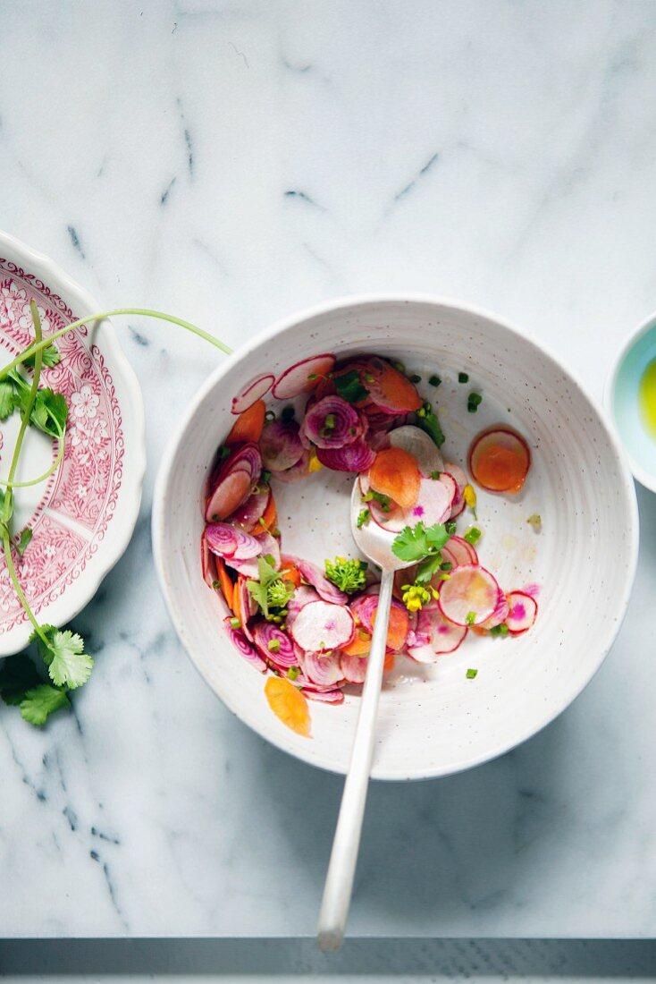 Radish and carrot salad