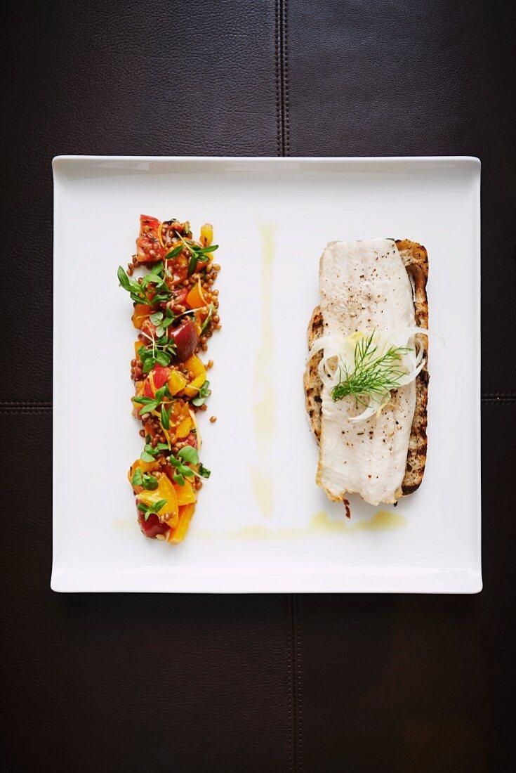 Modern Trout Filet Sandwich
