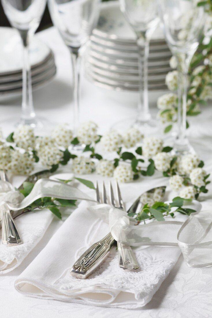 Flatware Setting on Wedding Table