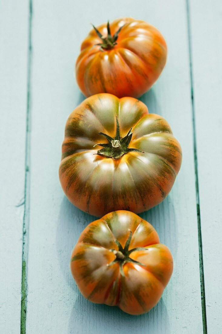 Three Marmande tomatoes