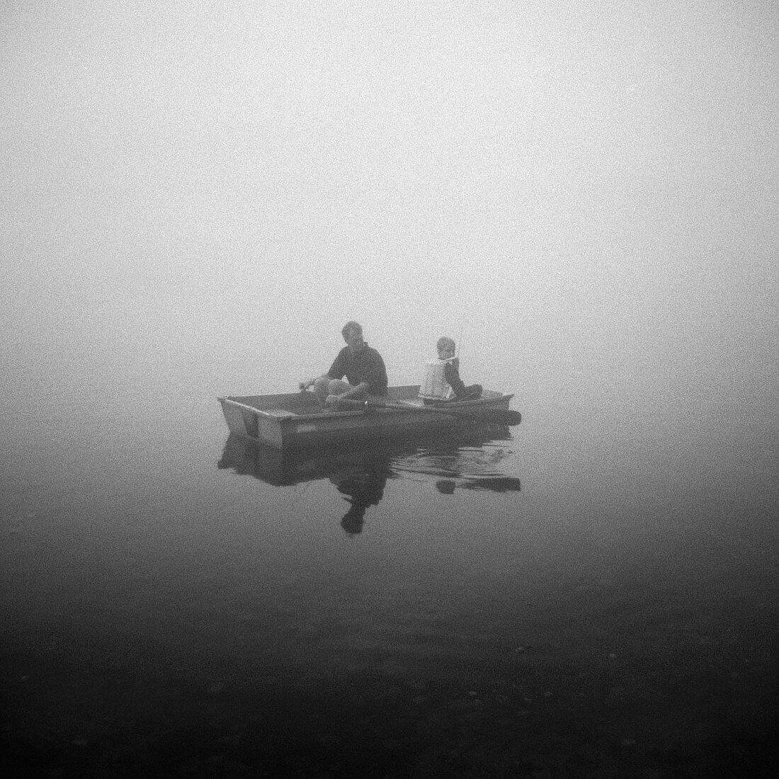 Boating in the fog