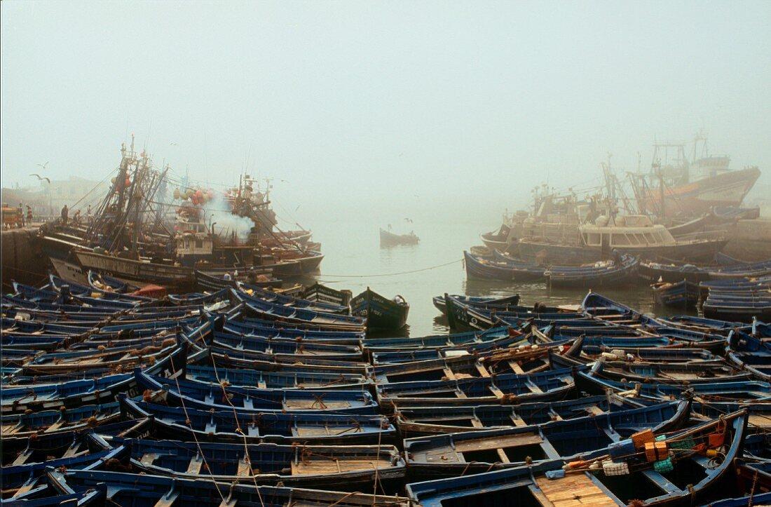 Fishing Boats, Misty Morning, Essaouira, Morocco