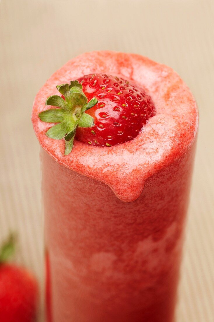A Fresh Strawberry Smoothie