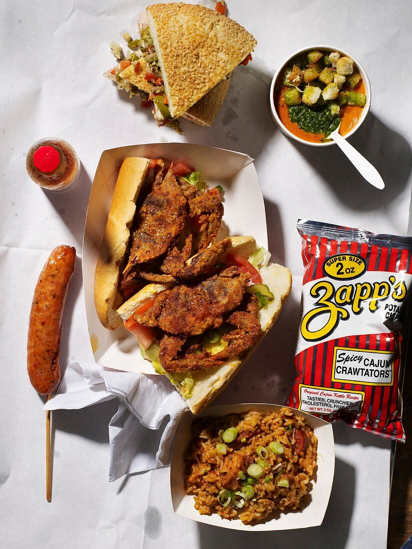 Southern Style Crab Sandwiches and Other Fast food