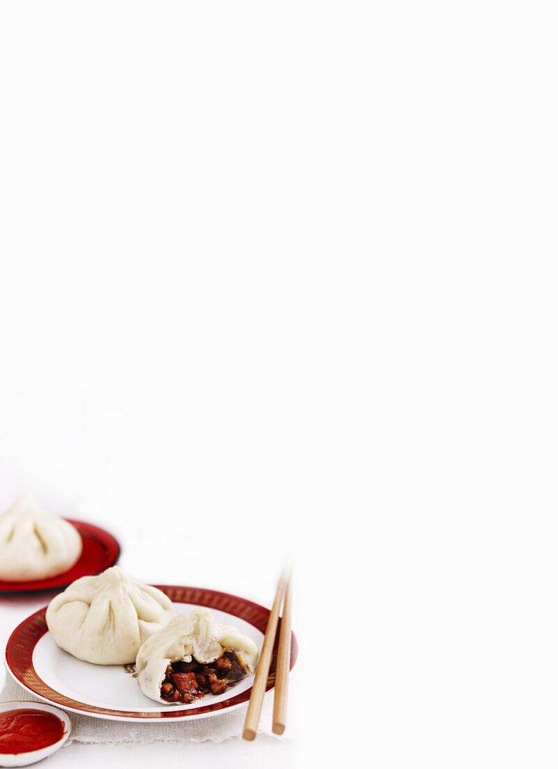 Char Siu Bao (steamed pork dumplings, China)