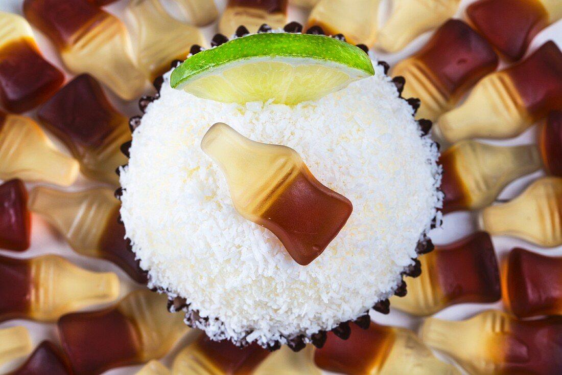 A Cuba Libre cupcake