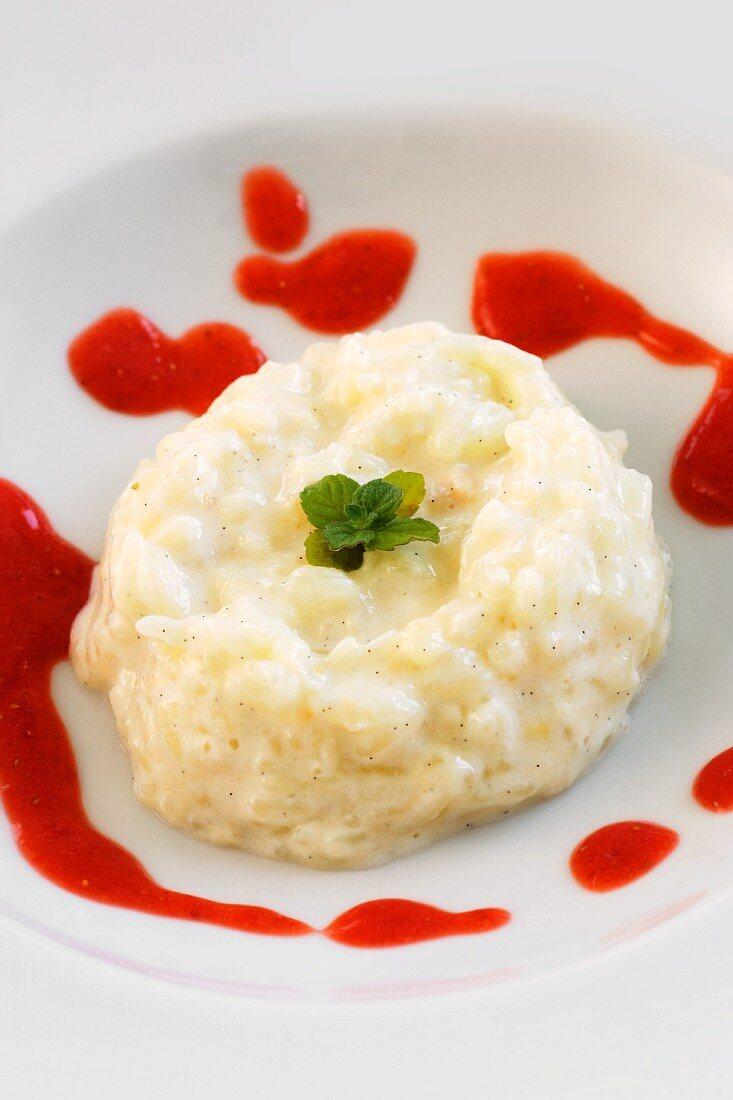 Reispudding mit Erdbeercoulis
