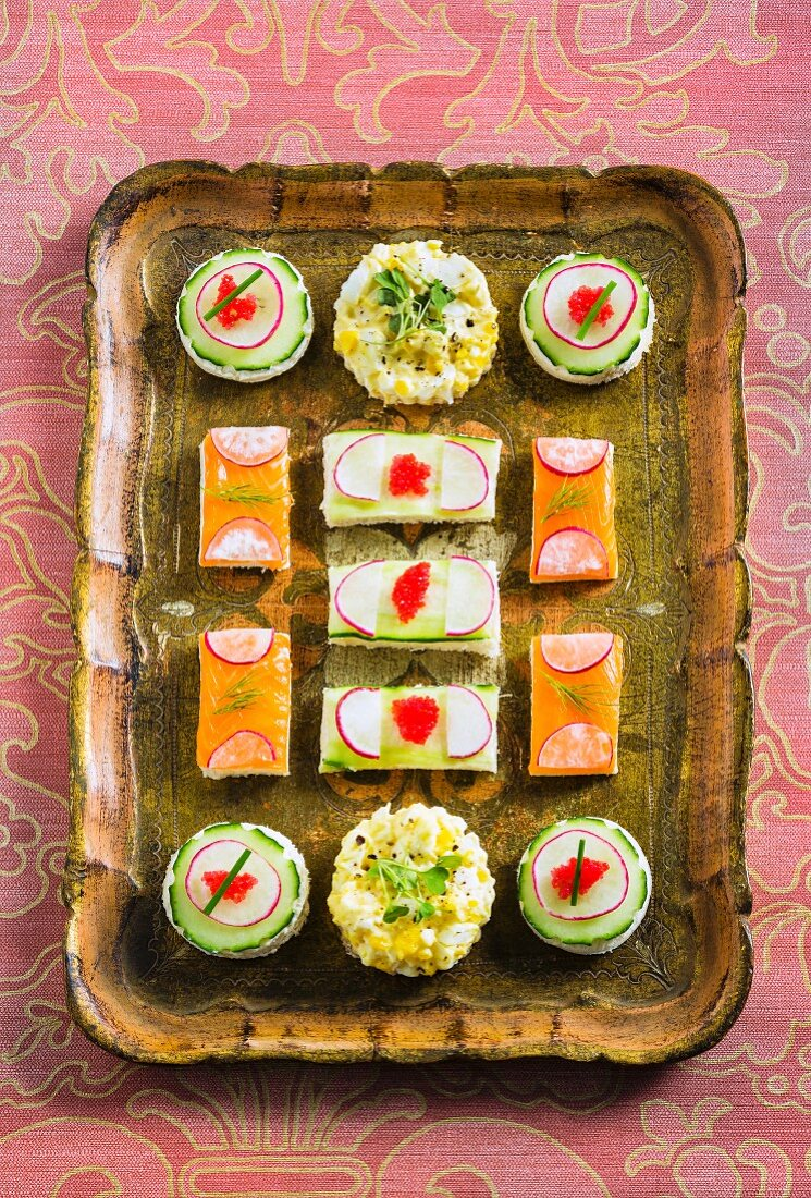 Colourful sandwiches for teatime