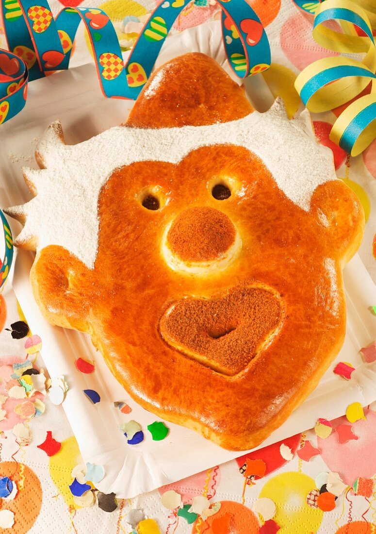 A bread mask for a carnival party