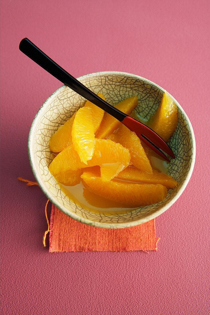 A ball of orange fillets