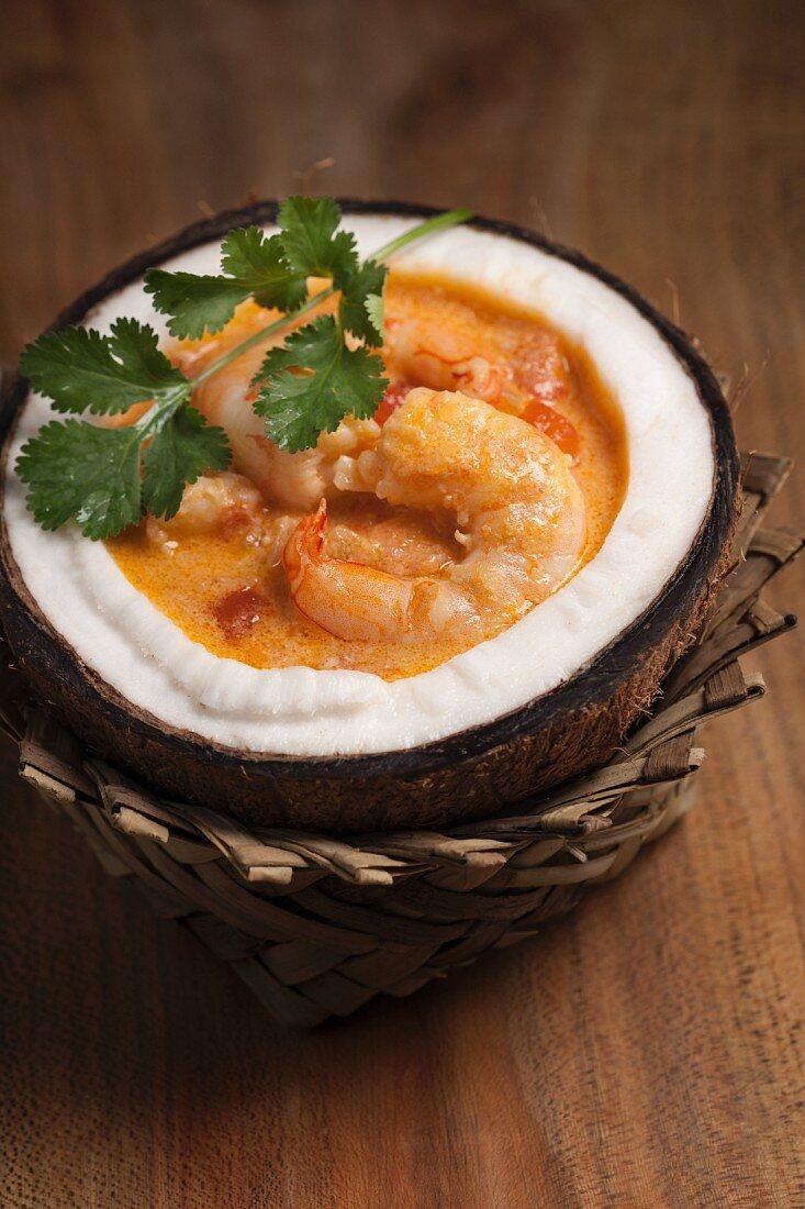 Moqueca de Camarao (Prawn stew with coconut milk, Brazil)