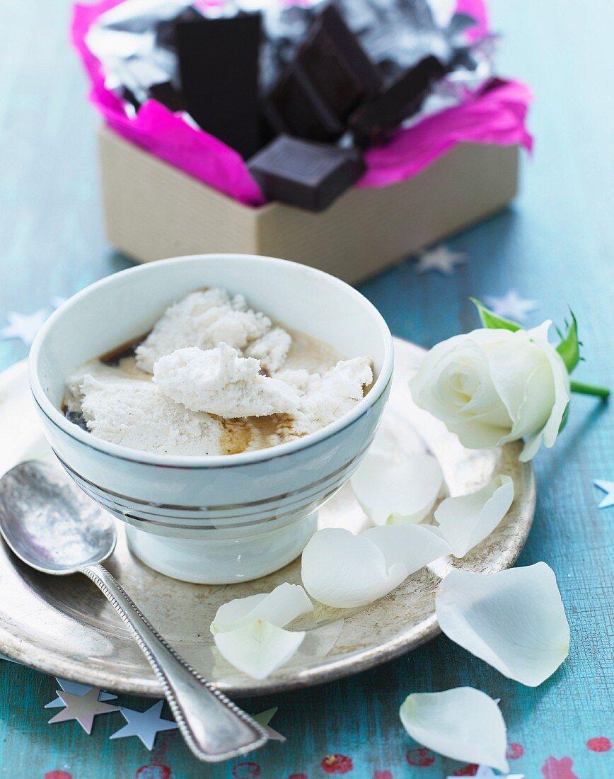 Vanilla and coffee dessert