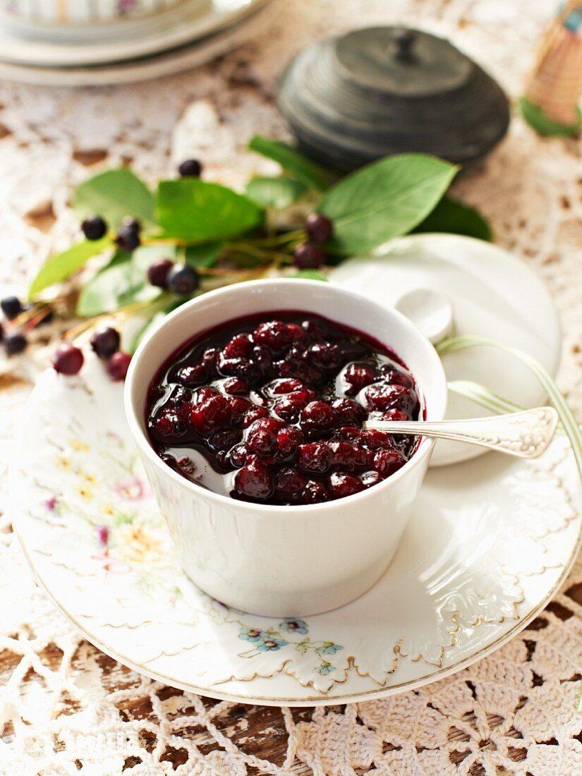 Juneberry chutney