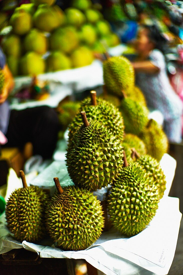 Soursops at a market in Saigon (Vietnam)