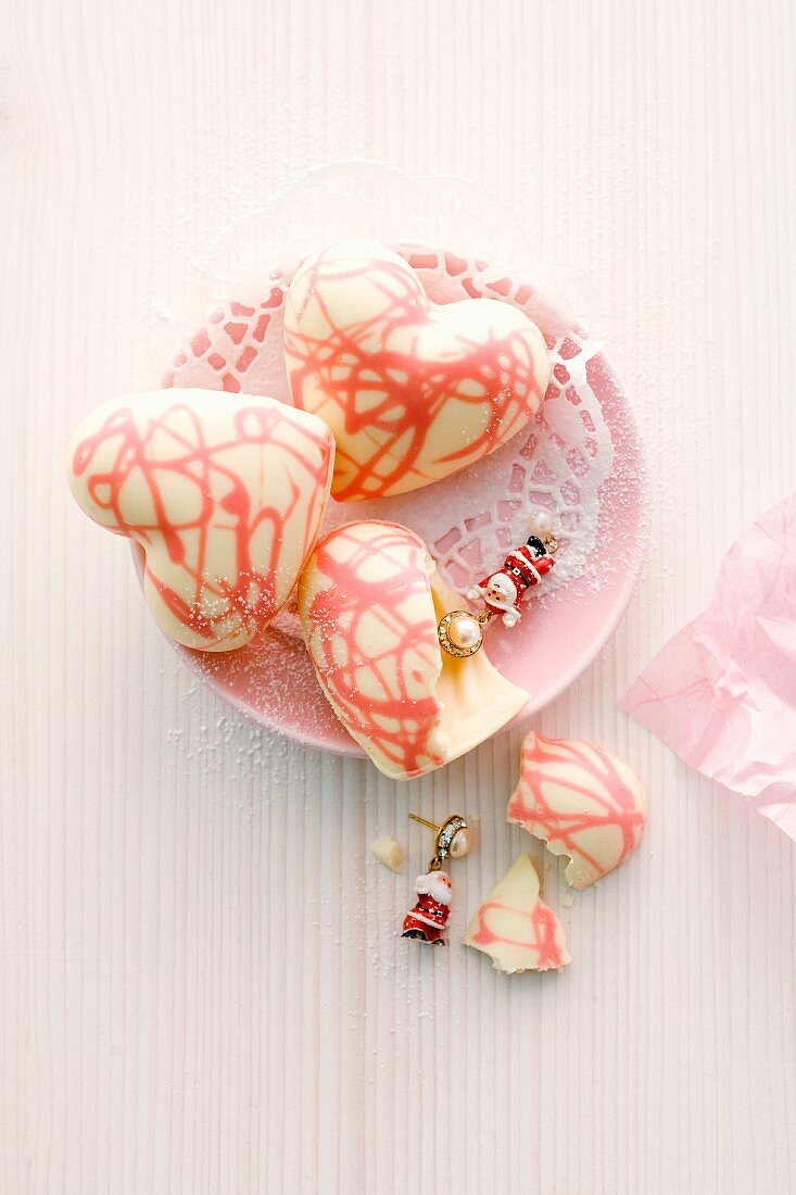 Surprise chocolate hearts