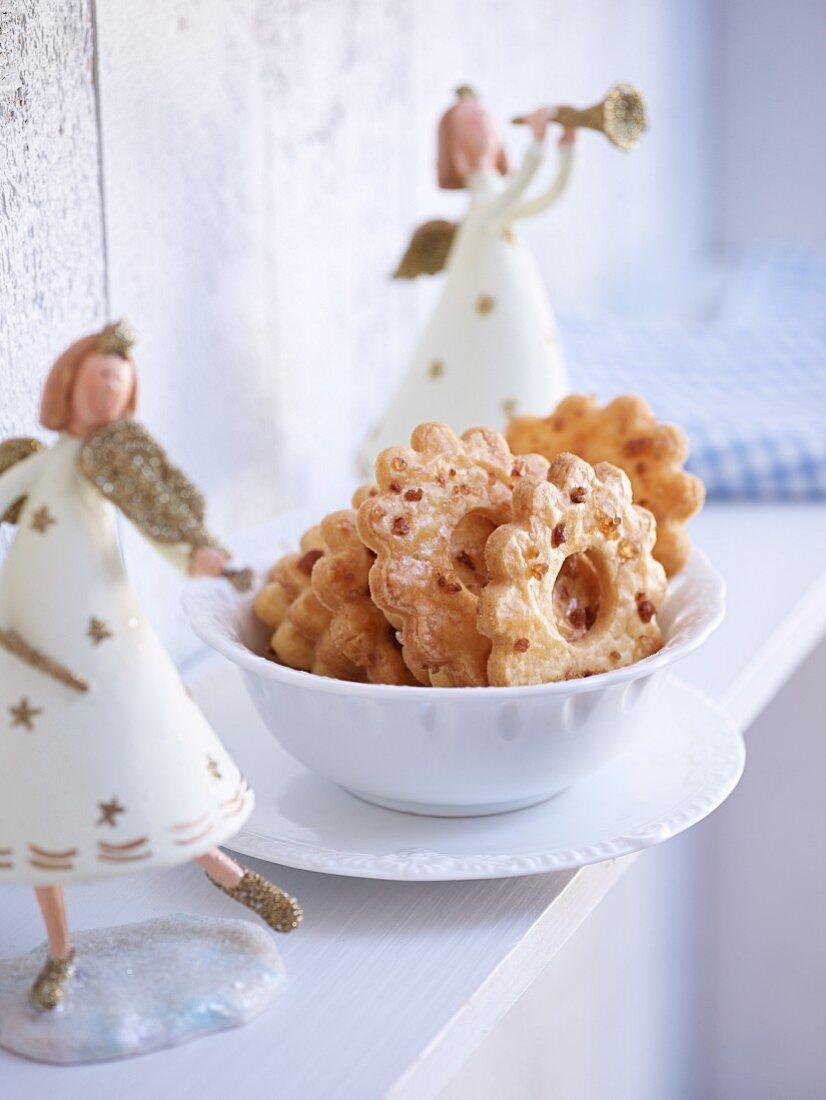 Christmas Friesenringe (flower-shaped butter biscuits)
