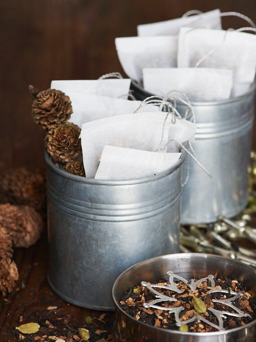 A chai tea mixture as a Christmas present