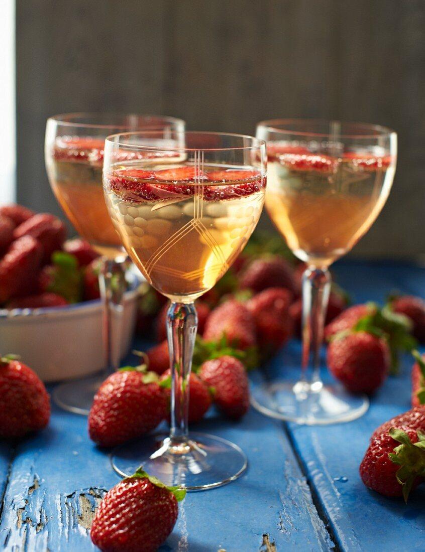 Strawberry prosecco