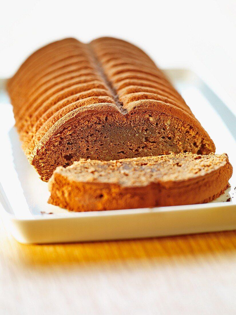Hazelnut and almond cake