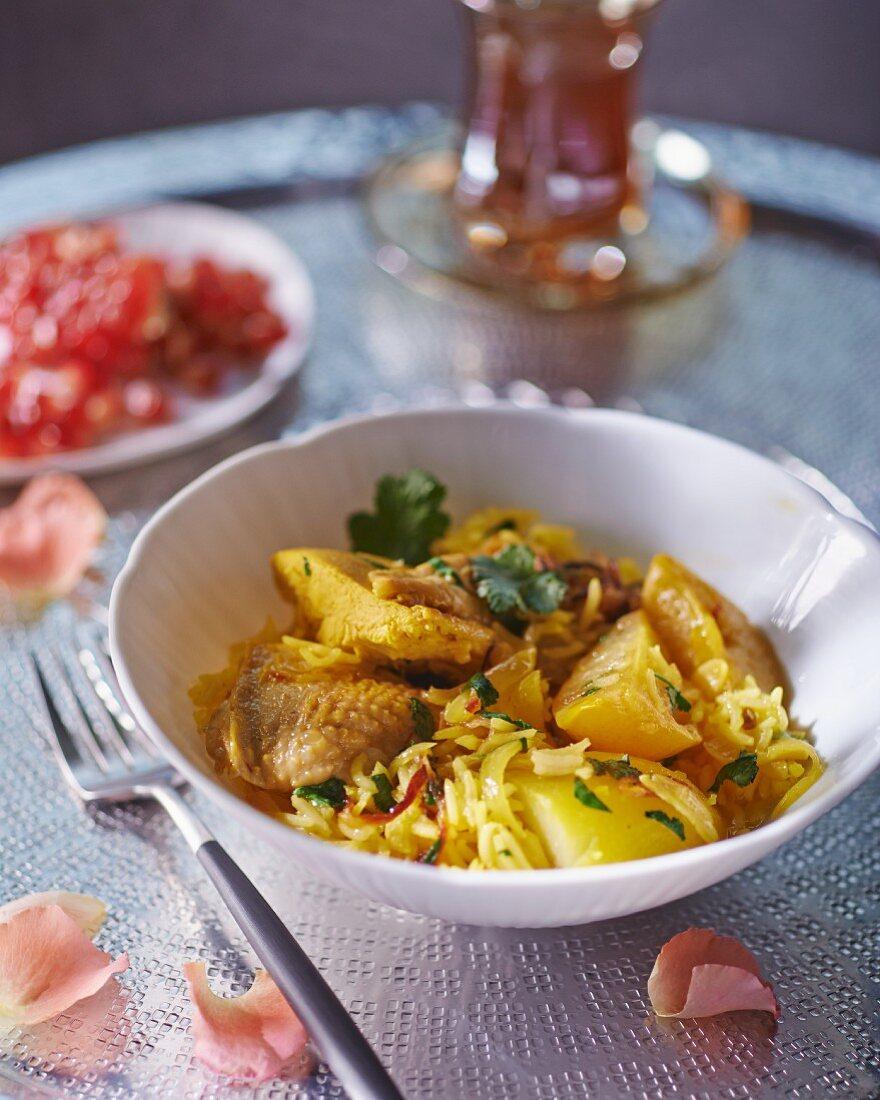 Arabian lemon chicken with rice