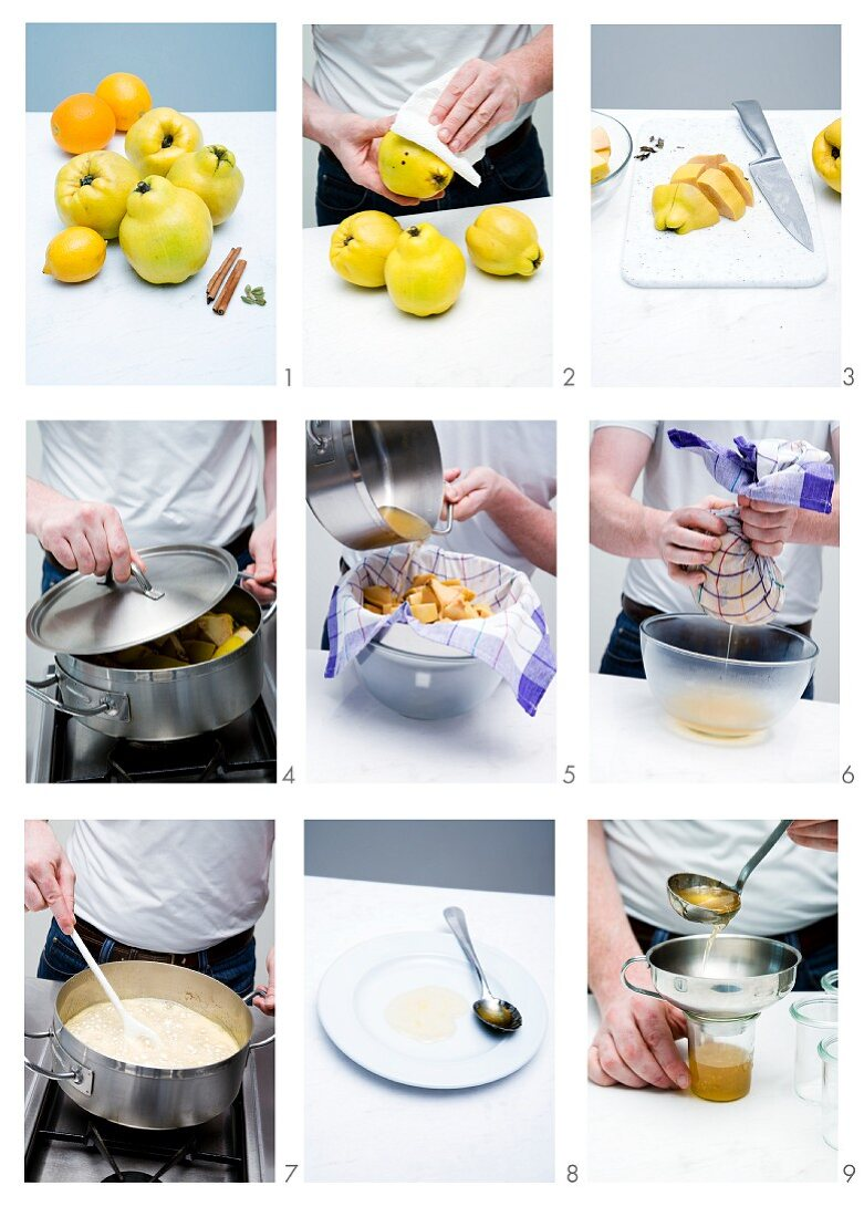 Quince jelly being made