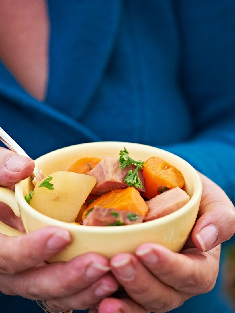 Hearty autumnal soup