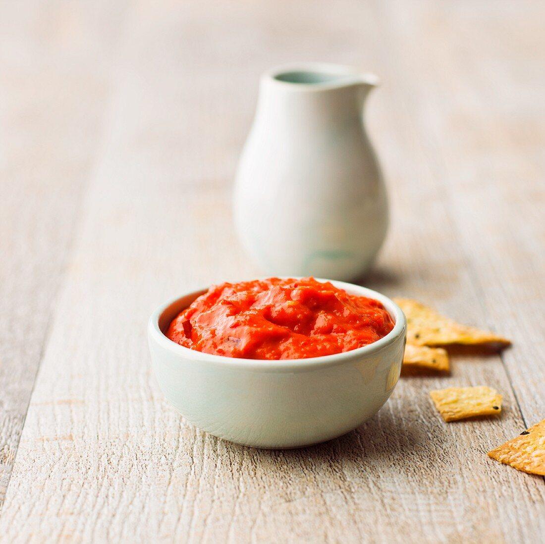 Ajvar (spicy pepper cream from the Balkans)