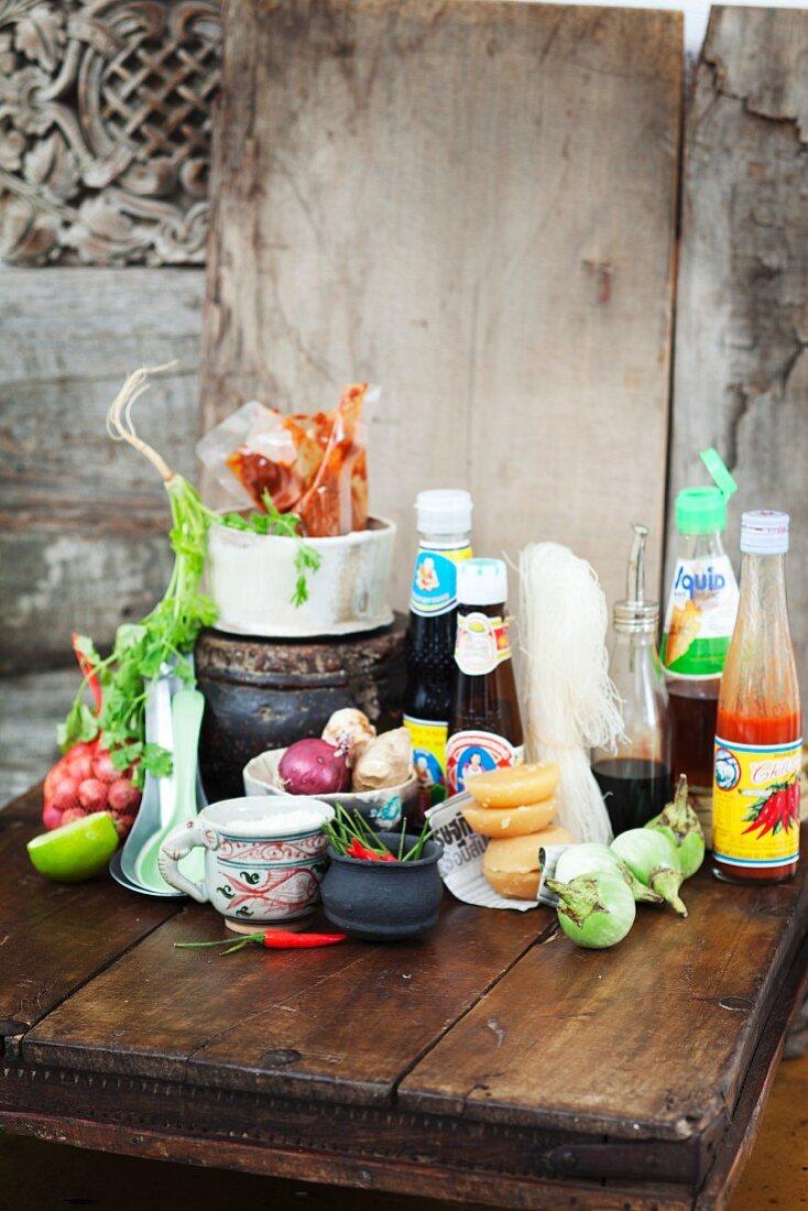 Ingredients for Thai cuisine