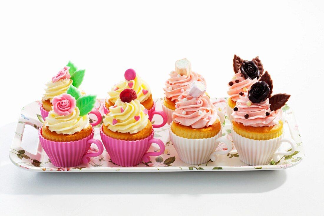 Summery birthday cupcakes