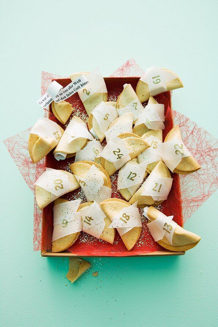 A fortune cookie advent calendar