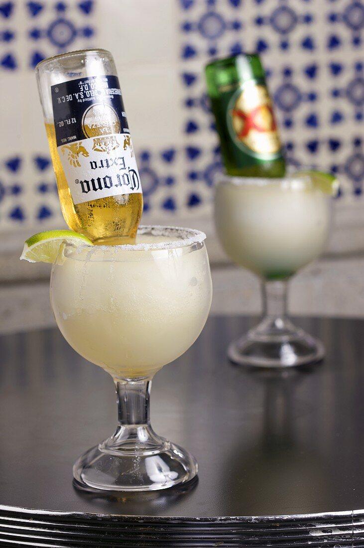 Two Mexican Bulldog Margaritas