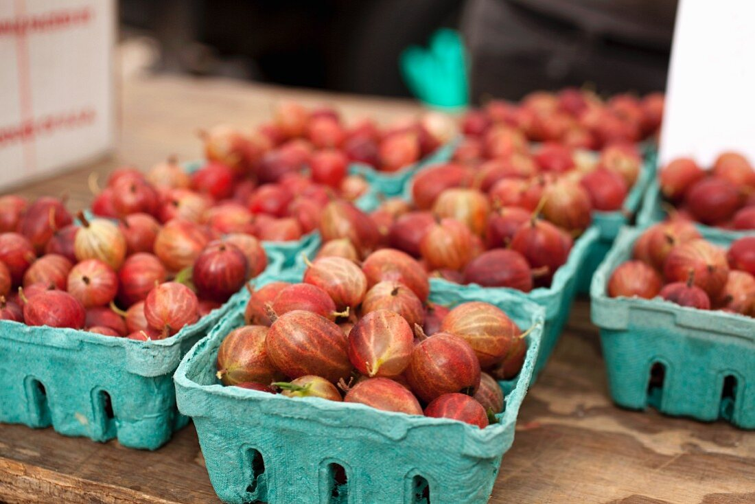 Gooseberries at a Farmer's Market in Baltimore, Maryland