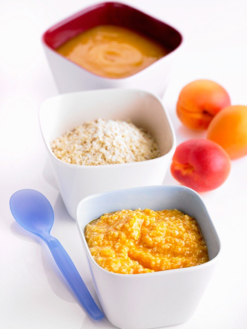 Apricots purée and millet (baby food)