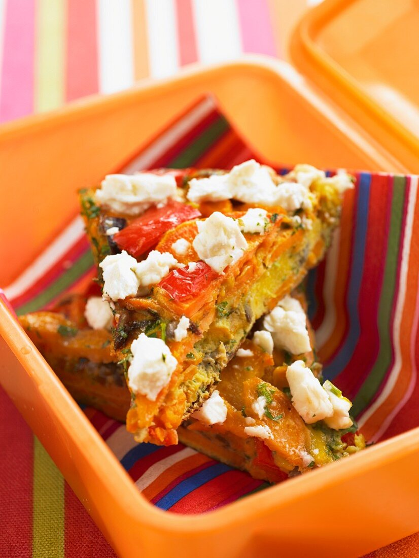 Frittatas in a lunchbox