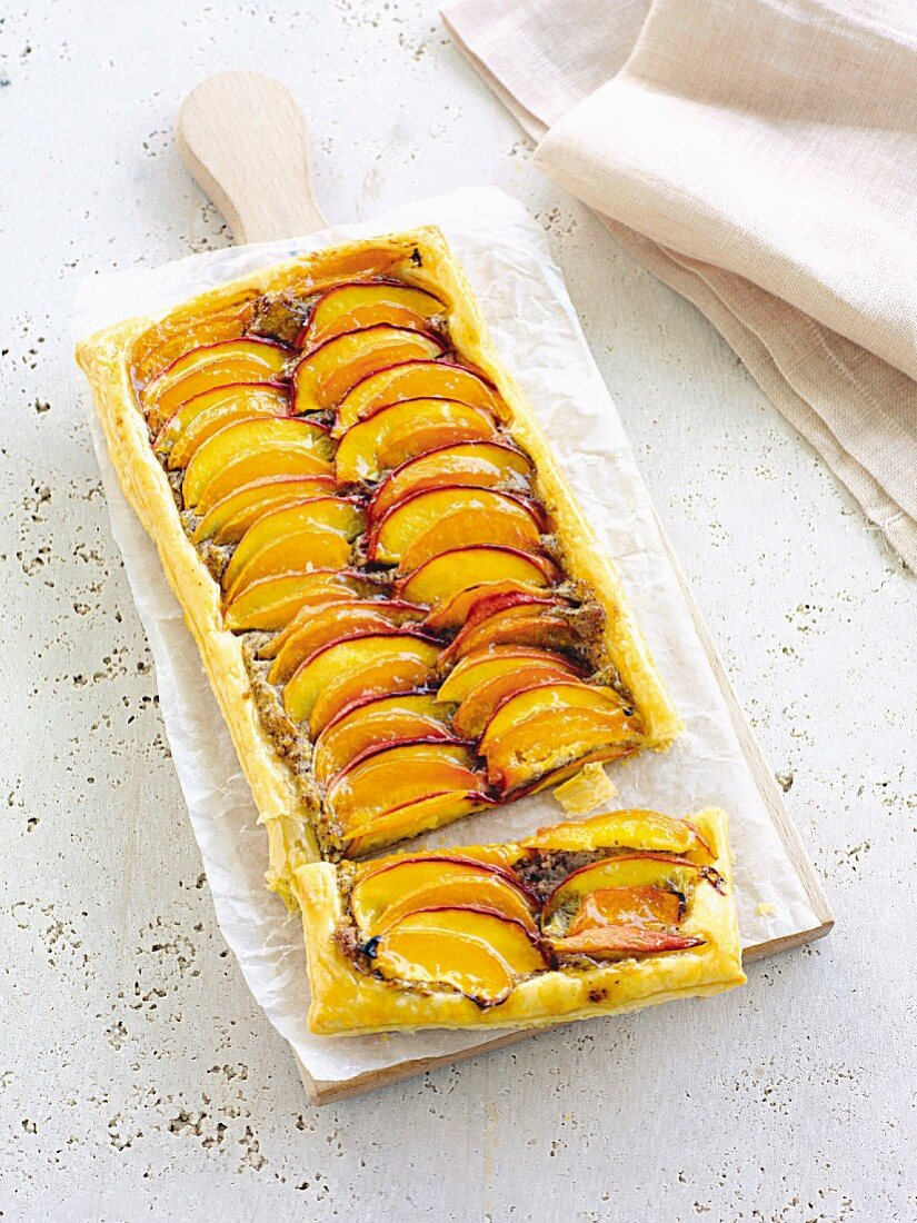 A nectarine and apricot tart
