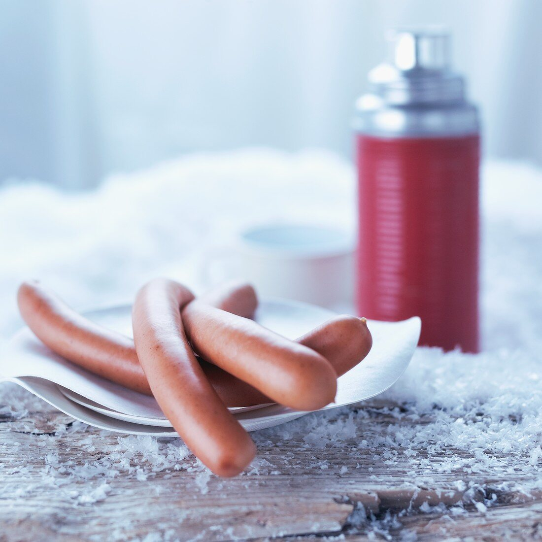 Frankfurters and a Thermos flask