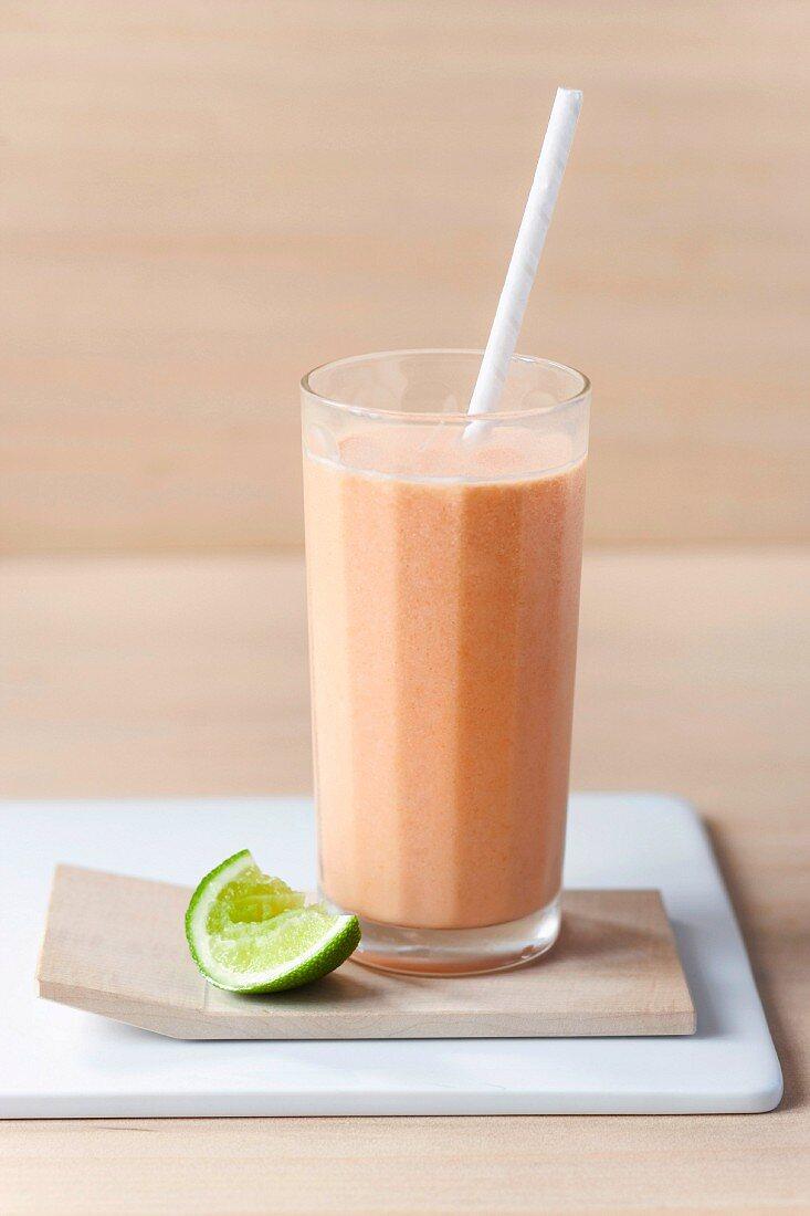 Papaya-wheat germ smoothie