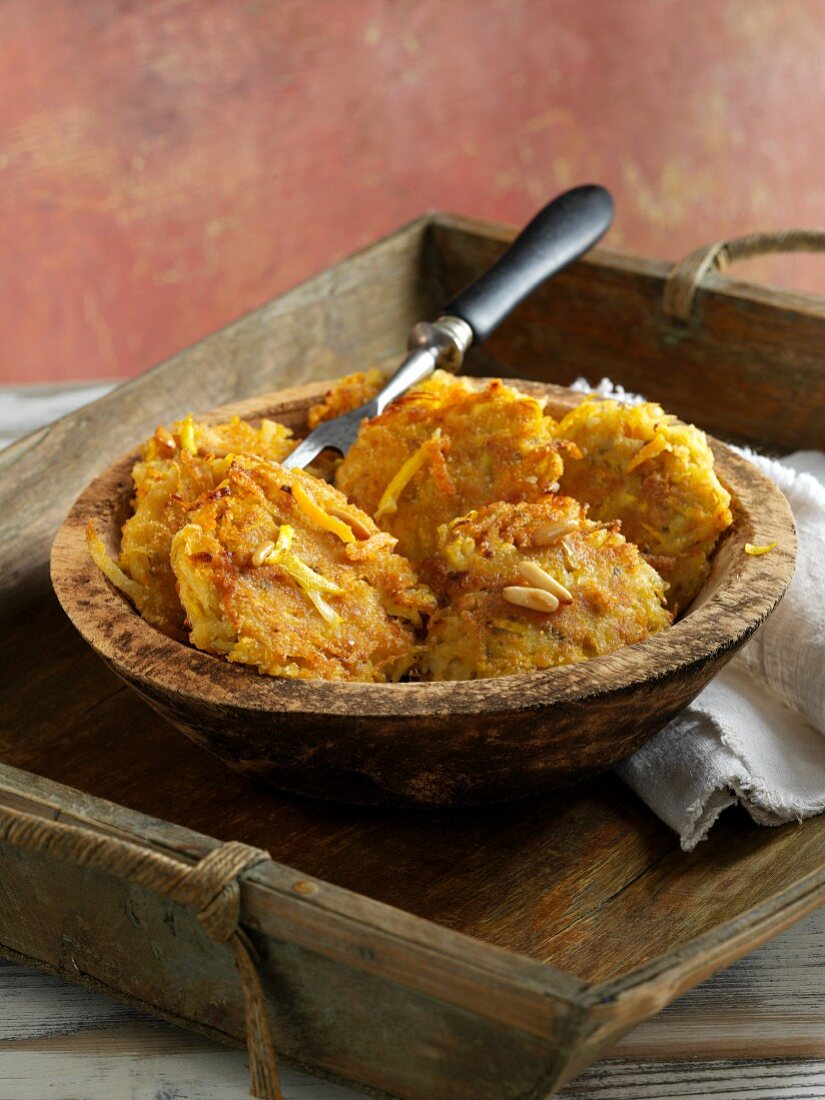 Rustic Levantine fried patties